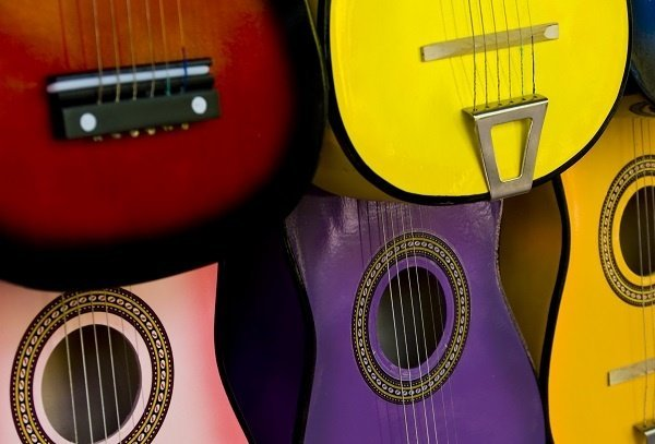 Acoustic Guitars Colorful 3